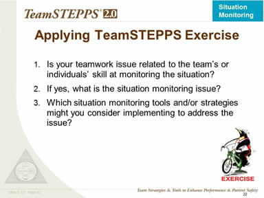 Applying TeamSTEPPS Exercise