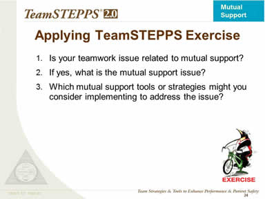 Exercise: Applying TeamSTEPPS