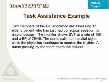 Task Assistance Example