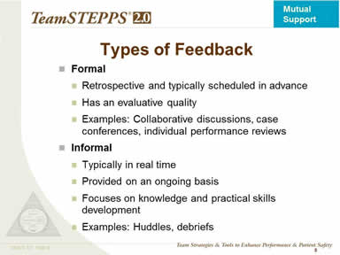 Types of Feedback