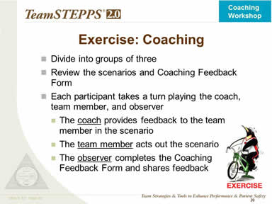 Exercise: Coaching