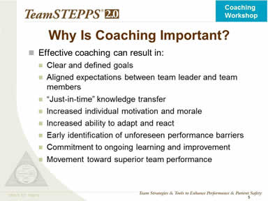 Why Is Coaching Important?