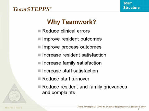 Why Teamwork?... the remaining slide text is below this image.