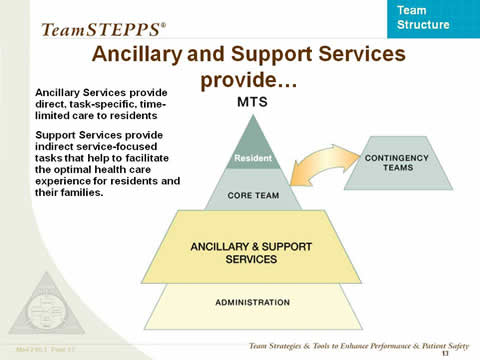 Ancillary and Support Services Provide... the remaining slide text is below this image.