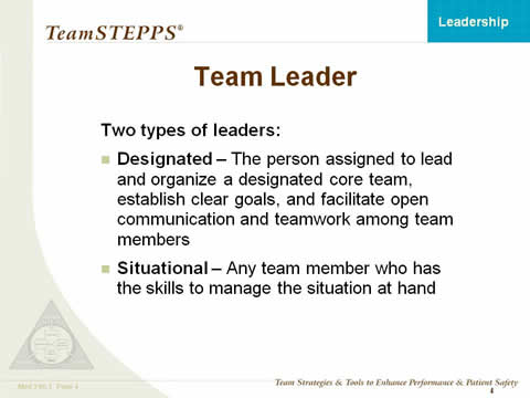 good team leader skills
