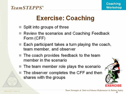 Coaching Workshop Instructor Slides  Agency For Healthcare