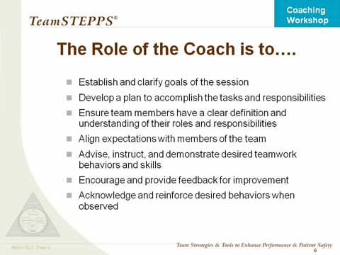 the role of a coach and importance of coachs philosophy Formal coaching philosophy coaches range of perceptions of what is believed to be the role of the coach, and the importance 542 sport coachesÕ perceived.