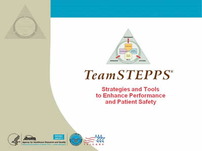 Cover slide. Image: The TeamSTEPPS logo.