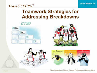 TeamSTEPPS for Office Based Care Team Structure Agency