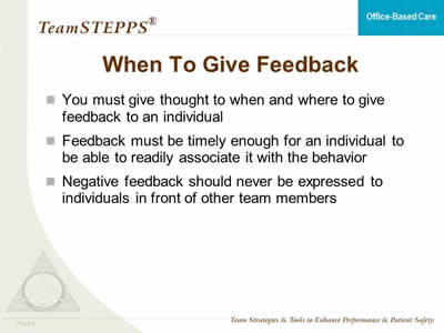 how to give feedback in english