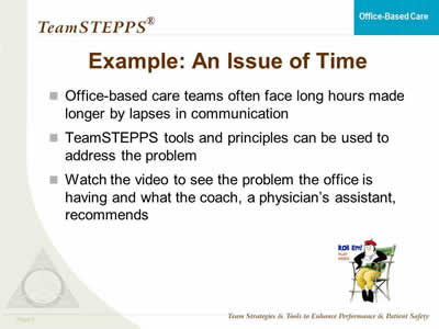 TeamSTEPPS for Office-Based Care: Teaching and Coaching | Agency for ...