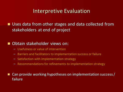 Interpretive Evaluation