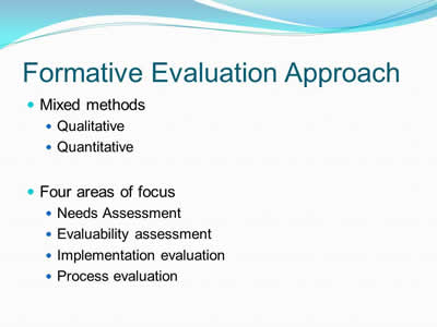 Formative Evaluation Approach