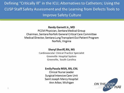 Defining Critically Ill In The Icu Alternatives To