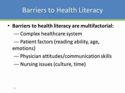 Health Literacy And Patient And Family Engagement