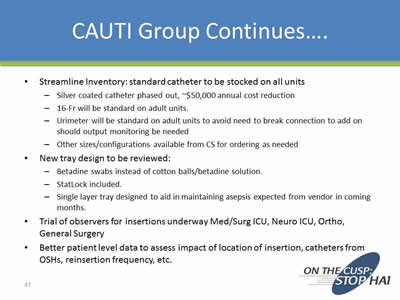decreasing cauti Basics of infection prevention healthcare-associated infections program center for health care quality  • discuss strategies to reduce cauti within.