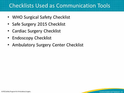 WHO Surgical Safety Checklist. Safe Surgery 2015 Checklist. Cardiac Surgery Checklist. Endoscopy Checklist. Ambulatory Surgery Center Checklist.