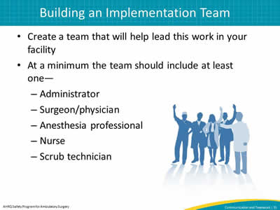 Building an Implementation Team