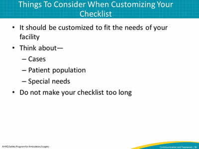 Things To Consider When Customizing Your Checklist