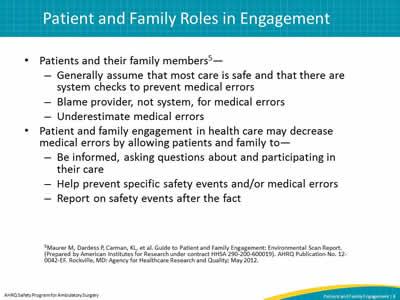 family involvement in nursing care