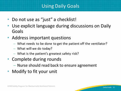 graphic about Daily Goals Checklist named Day by day Aims Throughout Interdisciplinary Rounds: Facilitator