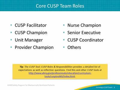 Forming a Comprehensive Unit-based Safety Program Team: Slide