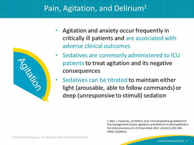 Evidence Behind Pain, Agitation, and Delirium: Assessments