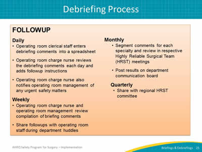 Auditing your briefings and debriefings process facilitator notes slide 25 debriefing process maxwellsz