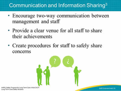 Communication and Information Sharing