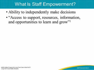 What Is Staff Empowerment?