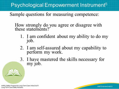 Psychological Empowerment Instrument