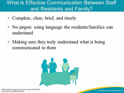 What Is Effective Communication Between Staff and Residents and Family