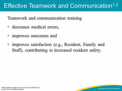 Effective Teamwork and Communication