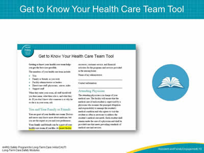 Get to Know Your Health Care Team Tool