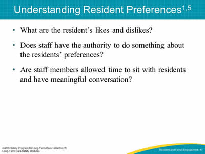 Understanding Resident Preferences