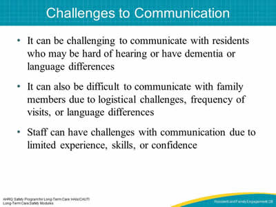 Challenges to Communication