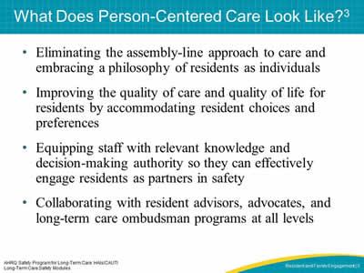 What Does Person-Centered Care Look Like?