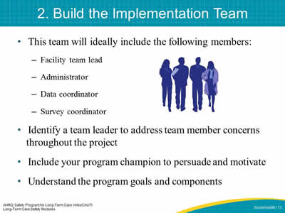 2. Build the Implementation Team