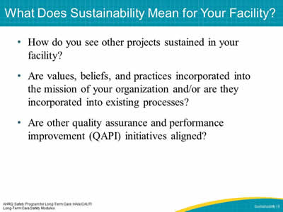 What Does Sustainability Mean for Your Facility