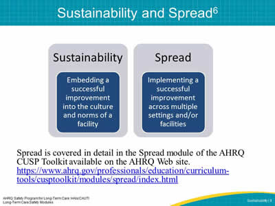 Sustainability and Spread