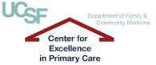 UCSF Center for Excellence in Primary Care logo.