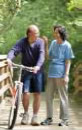 Photograph of a couple on a biking/walking trail.