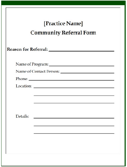 Community Referral Form