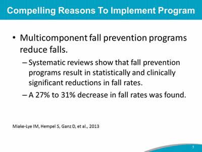 Module 1: Preventing Falls in Hospitals—Slide Presentation | Agency