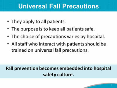 Module 3: Best Practices in Fall Prevention—Training Guide ...