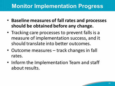 Module 4: How To Implement the Fall Prevention Program in