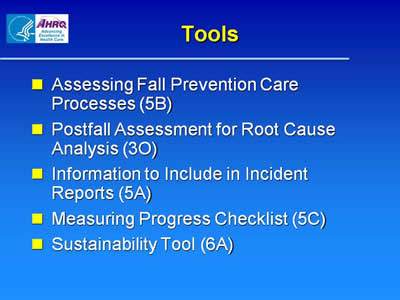 Preventing Falls In Hospitals (Slide Presentation) | Agency For