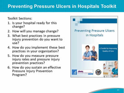 Preventing Pressure Ulcers in Hospitals Toolkit