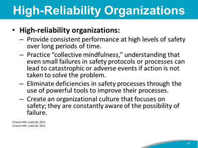 High-Reliability Organizations