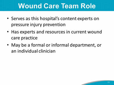 Wound Care Team Role